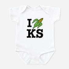 I Love Kansas (corn) Infant Bodysuit