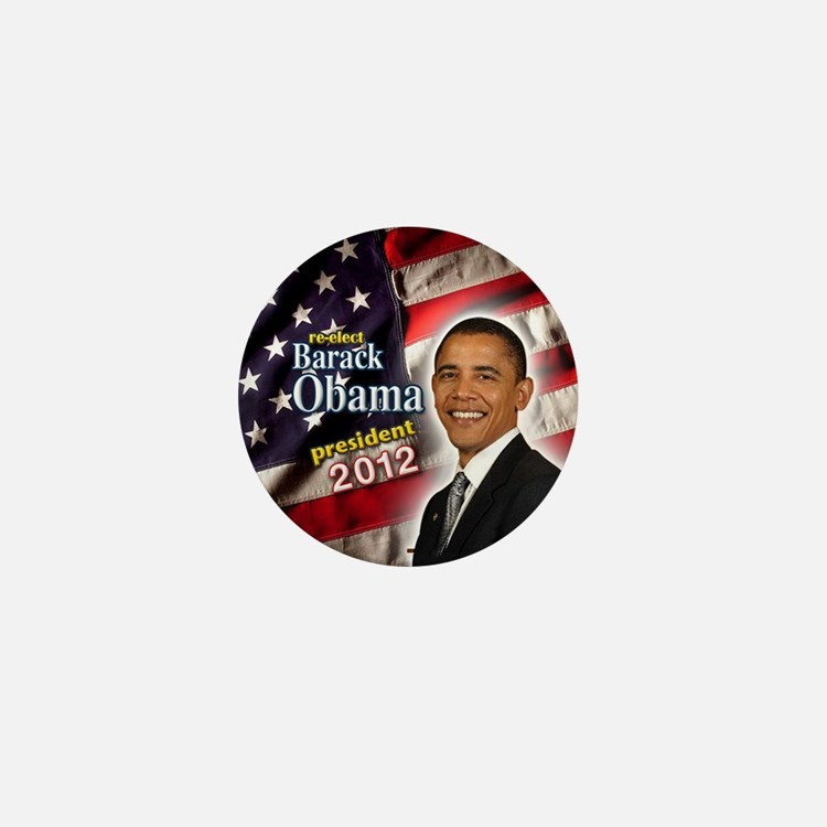 Cute Barrack obama 2012 Mini Button