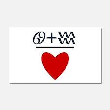 Cancer + Aquarius = Love Car Magnet 20 x 12