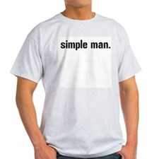 Simple Man 2 Ash Grey T-Shirt