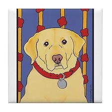 """""""The Yellow Lab"""" Labrador Tile Coaster"""