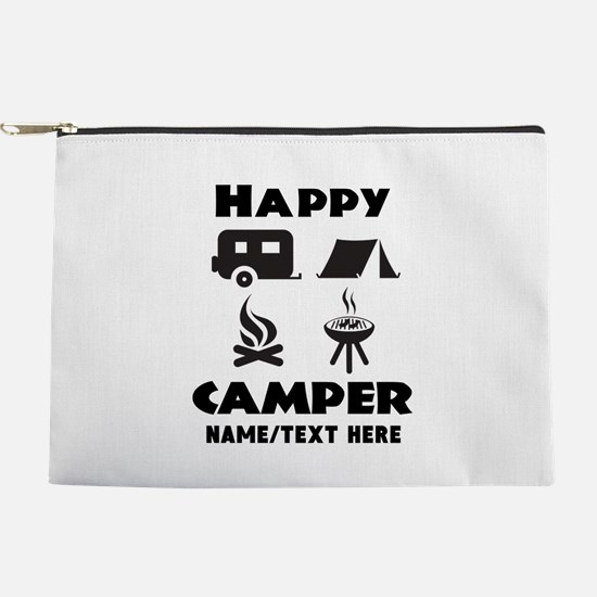 Happy Camper Personalized Makeup Pouch