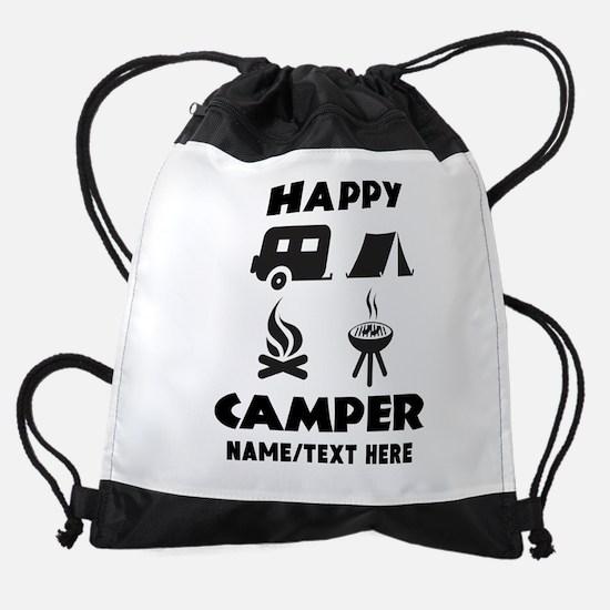 Happy Camper Personalized Drawstring Bag