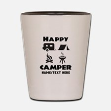 Happy Camper Personalized Shot Glass