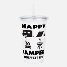Happy Camper Personali Acrylic Double-wall Tumbler