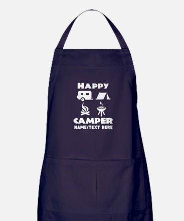 Happy Camper Personalized Apron (dark)