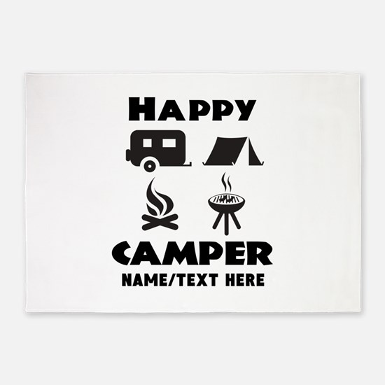 Happy Camper Personalized 5'x7'Area Rug