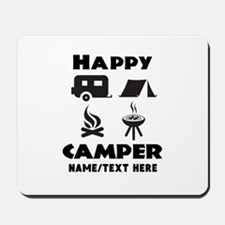 Happy Camper Personalized Mousepad