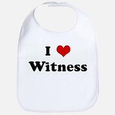 I Love Witness Bib