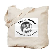Twins' Motto Apparel Tote Bag