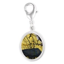 Nevermore Silver Oval Charm