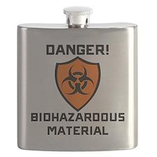 Danger Biohazaedous Material Flask