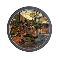 Gauguin: Cove Opposite Pont Aven Harbor Wall Clock