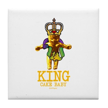 King Cake Baby Tile Coaster