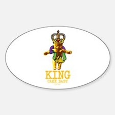 King Cake Baby Oval Decal