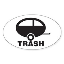 Trailor Trash Oval Decal