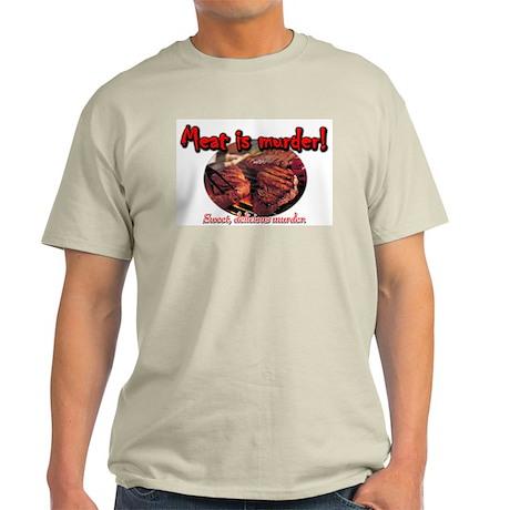 Meat is MURDER Ash Grey T-Shirt