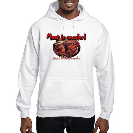 Meat is MURDER Hooded Sweatshirt