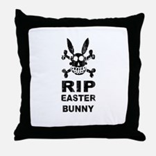 RIP EASTER BUNNY Throw Pillow