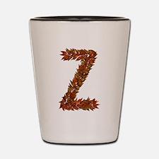 Z Fall Leaves Shot Glass