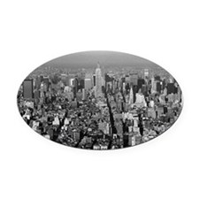Empire State New York City-Pro Pho Oval Car Magnet