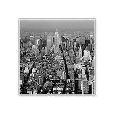 "Empire State New York City- Square Sticker 3"" x 3"""