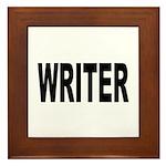 Writer Framed Tile