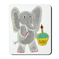 Elephant Cupcake Mousepad