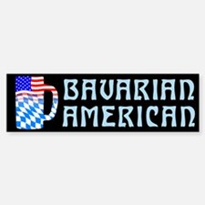 Bavarian American Beer Stein Bumper Bumper Bumper Sticker