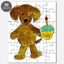 Chocolate Lab Cupcake Puzzle