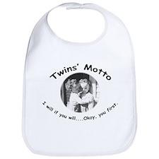 Twins' Motto Apparel Bib