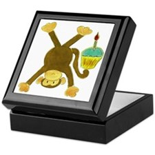 Tumbling Monkey Cupcake Keepsake Box