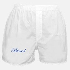Blue Blessed Boxer Shorts