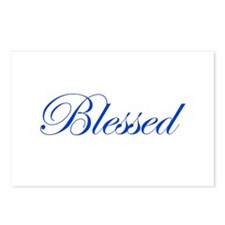 Blue Blessed Postcards (Package of 8)