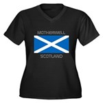 Motherwell Scotland Women's Plus Size V-Neck Dark