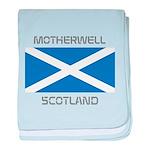 Motherwell Scotland baby blanket