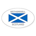 Motherwell Scotland Sticker (Oval 10 pk)