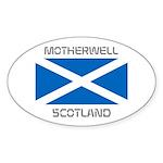 Motherwell Scotland Sticker (Oval 50 pk)