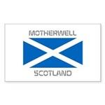 Motherwell Scotland Sticker (Rectangle 50 pk)