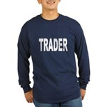 Trader (Front) Long Sleeve Dark T-Shirt