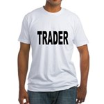 Trader (Front) Fitted T-Shirt