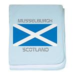 Musselburgh Scotland baby blanket