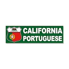 California Portuguese American Car Magnet 10 x 3