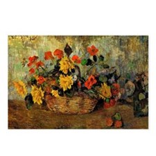 Gauguin: Nasturtiums and  Postcards (Package of 8)