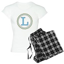 Letter L Blue Yellow Brown Pajamas