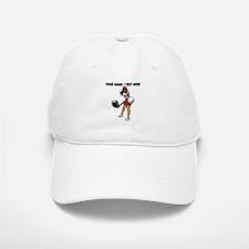 Custom Woman Golfer Baseball Baseball Cap