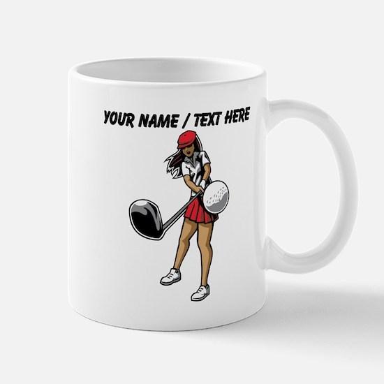 Custom Woman Golfer Mugs