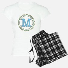 Letter M Brown Yellow Blue Pajamas