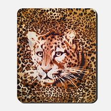 modern leopard print Mousepad