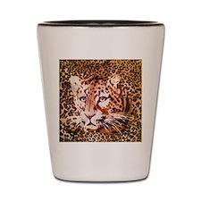 modern leopard print Shot Glass
